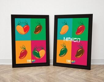 Mango illustrated Poster