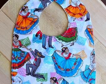 Mexican Folklore Ballet Print Infant Bib