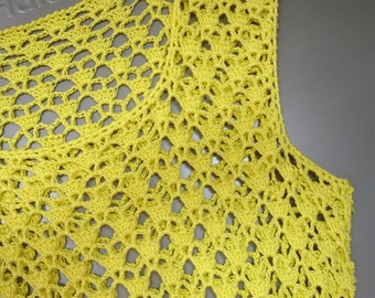 Bright yellow dress/tunic in size XS/S
