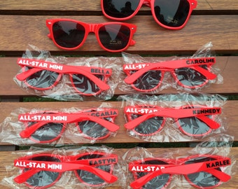 50 KIDS Personalized Sunglasses, Custom Wedding Favor Sunglasses, Birthday Party Favor, Children's Birthday Party, Fun Party Favor Ideas