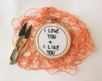 I Love You + I Like You Hoop