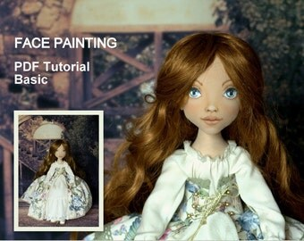 Face Painting PDF Cloth doll tutorial. OOAK Cloth doll basic pdf tutorial. Step-by-step guide. Instant download.