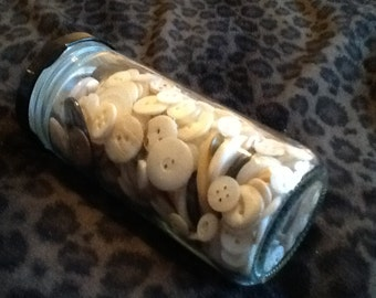 JAR O Buttons All-Shell All-Vintage Various Sizes Midcentury and Earlier with Shell Belt Buckles