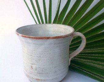 Minimalistic, white, elegant coffe/tea/chocolate mug