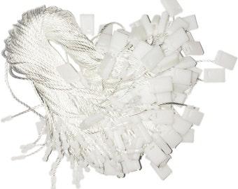 "7"" 1000 Pcs White Nylon Hang Tag Fasteners - FREE SHIPPING"