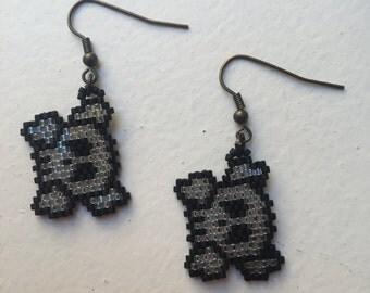 Earrings black - white Transparent - Pirate