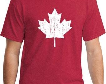Vintage Style Retro-Feel Canadian Maple Leaf T-Shirt