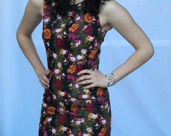 ON SALE - Asian Inspired Floral Dress - Size 10