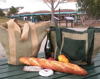 Burlap and Jute Garden Market Bag
