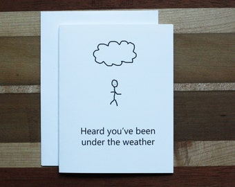 Witty Get Well Card, Funny Get Well Card, Sarcastic Get Well Card, Nerd Humor, Unusual Get Well Card, Strange humor, Under the weather
