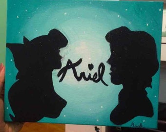 Ariel And Eric Silhouette Painting