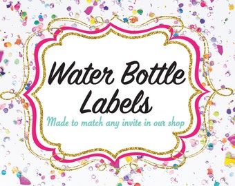 Water Bottle Labels-- Made to Match