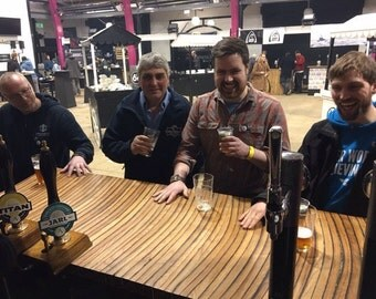 Solid oak whisky barrel worktop / bar top