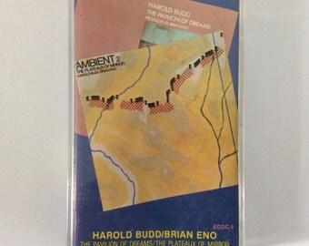 Harold Budd/Brian Eno - Pavilion of Dreams/Plateaux of Mirror cassette (Editions EG)