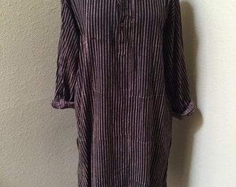 VTG stripe shirt dress
