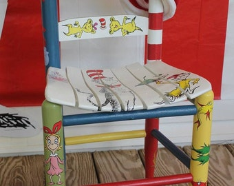 Personalized Dr. Seuss Children's Wood Chair