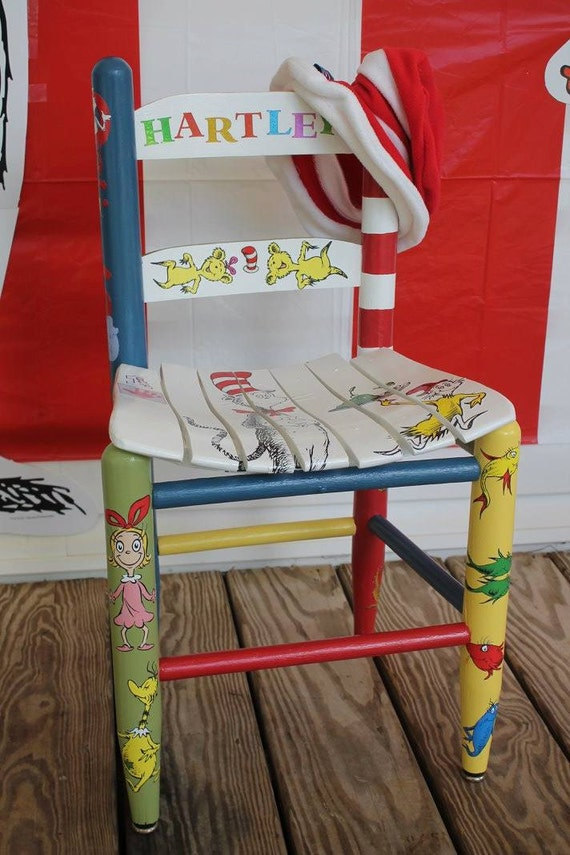 Personalized Dr Seuss Children 39 S Wood Chair By ChairsByDesign