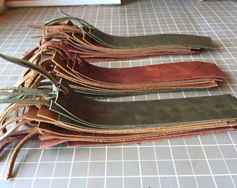 Assorted Earth Tone Plain Genuine Leather Bookmarks (pack of 10)