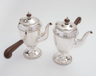 Pair of Art Deco Silver Plated Chocolate Pots (ID 47153)
