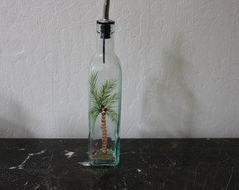 Handpainted Vinegar Bottle