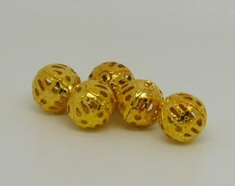 Filigree beads pack of 50