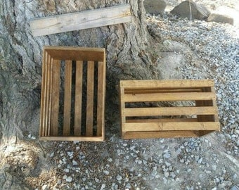 Stained wood crate
