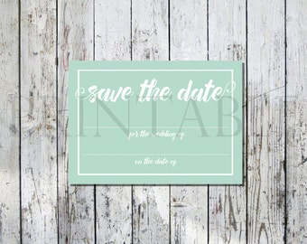 Mint Printable Wedding Save the Date