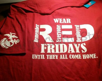 Military Wear Red Friday Shirts