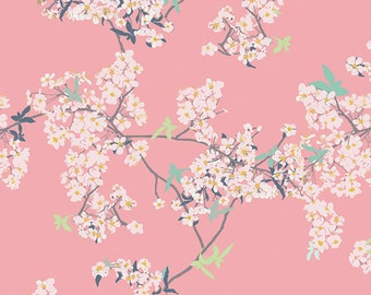 AGF KNIT Cherry Blossom Fabric Cotton Fabric Jersey Knit Fabric Art Gallery Yinghua Fabric Stretch Fabric Yinghua Cherrylight Fabric Cherry