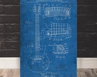 Electric Guitar Patent Print