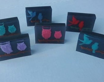 Handmade Glycerin Soap Owls Birds