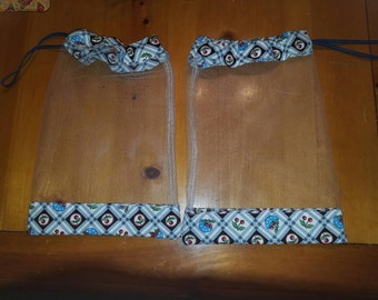 Set of homemade produce bags