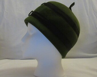 Green Felt Peck and Peck Cloche Hat
