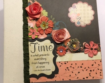 Canvas, Chipboard, 8 x 8, Tabbed, 3 Ring Binder Album