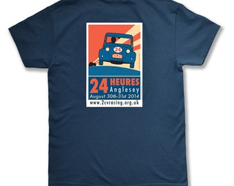 Retro Pit Crew Male Short Sleeved T-Shirt, 2CV 24 Hour Race Anglesey 2014
