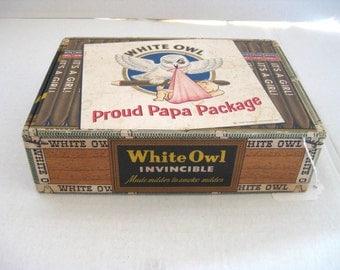 Vintage 1953 Proud Papa Cigar box