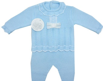 Baby boy knitted set