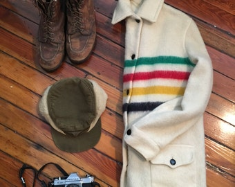 Vintage Hudson Bay Wool Striped Jacket