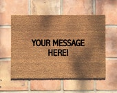 "the ""custom doormat"" cheeky doormat - welcome mat - custom welcome mat - housewarming gift - home decor - personalized - new home gift"