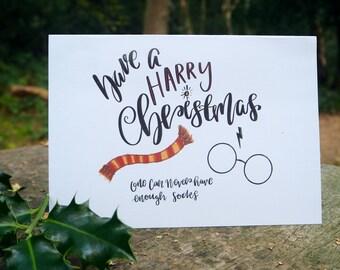 Dobby Christmas Card // Harry Potter Christmas Card Harry