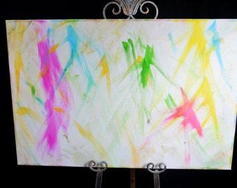 Acrylic abstract art painting 24x36 artist loft canvas