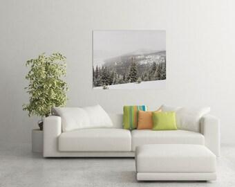 Snowy Mountain Print