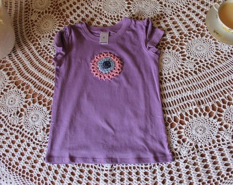 Purple Size four hand embroidered shirt