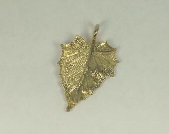 Gold Metal Leaf Pendant