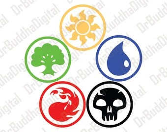 Magic The Gathering Inspired SVG Collection - MtG DXF - Magic Clipart - Svg Files for Silhouette Cameo or Cricut