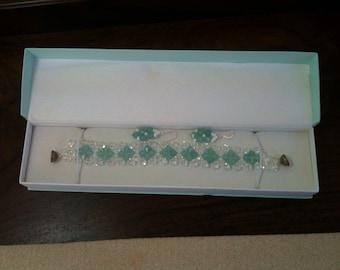 Handmade Swarovski Crystal Elements Bracelet.