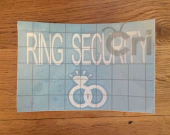 Ring security vinyl
