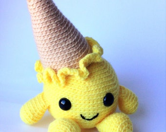 Crocheted softie Anton the Lemon Ice Cream