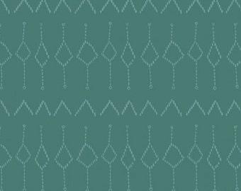 Dear Stella Moon Garden Kilim Geo Teal Fabric, Fabric by the Yard, Fat Quarter, Quilting Fabric, Teal Fabric, Geo Fabric, Rae Ritchie Fabric