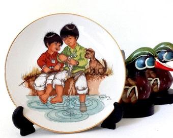 Appreciation, Vintage Plate, 1978, Vintage Wall Plate, Vintage Souvenir, Linda's Little Lovables,  Collectible Plate, By Linda Avey